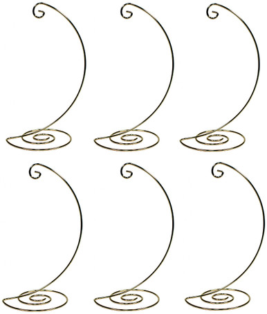 Creative Hobbies Fancy Gold Metal Ornament Display Hanger Stands 10