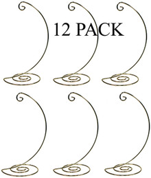 Creative Hobbies Fancy Gold Metal Ornament Display Hanger Stands, 10 Inch Tall, Pack of 12
