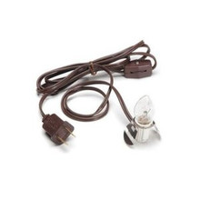 CLIP-IN LAMP CORDS- 6 FT BROWN w/BULBS ~LOT of 10 CORDS