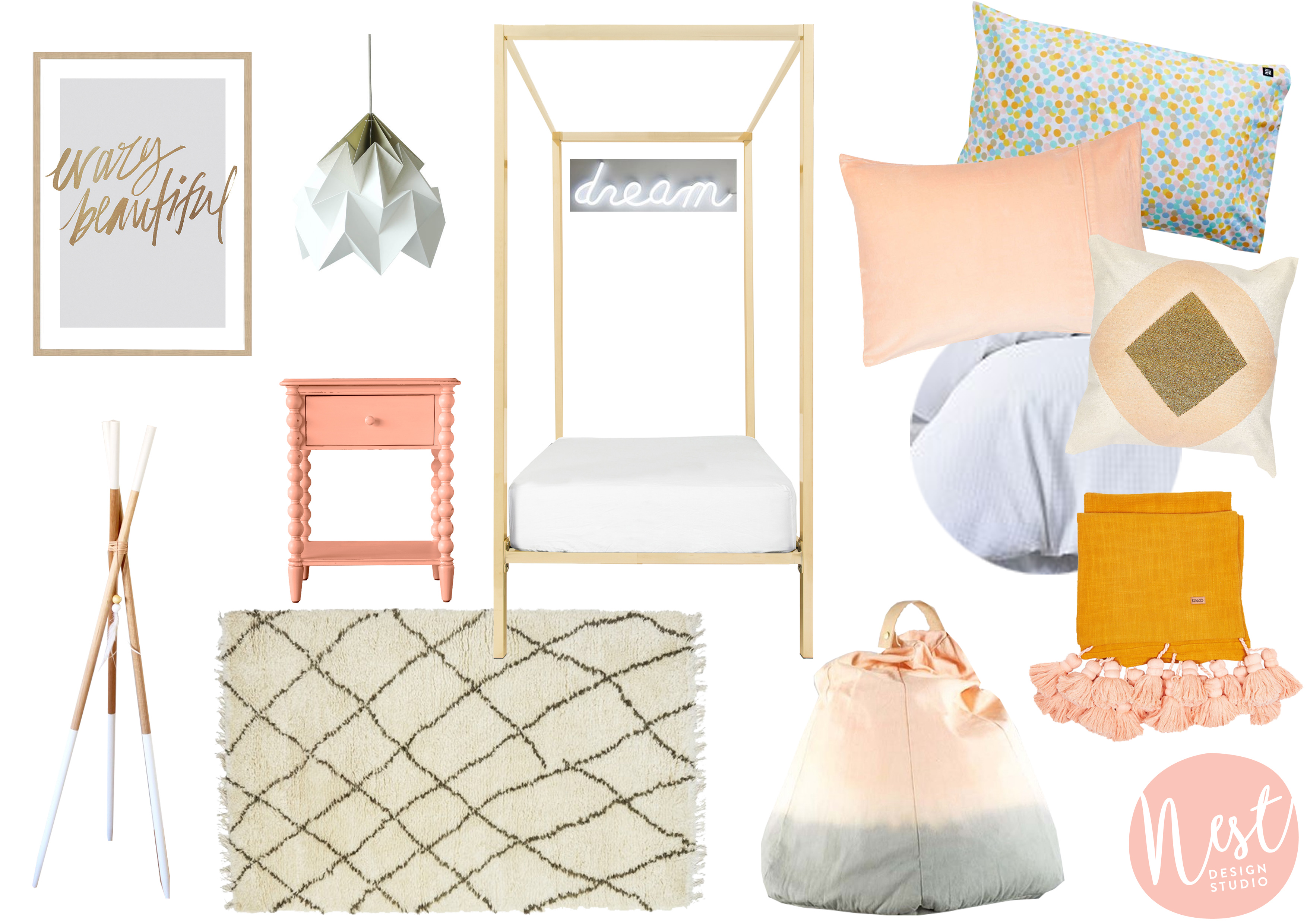 Rose Gold Four Poster Incy Interiors