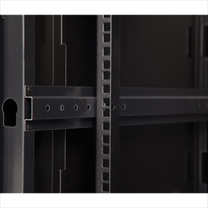 Rails on a 15U Wall Mount Cabinet