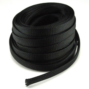 "1"" x 50' Black Cable Sock"
