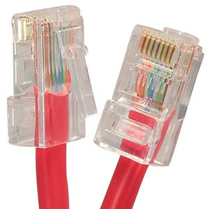 1' Red Cat6 Patch Cable