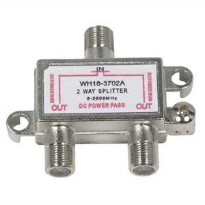 2 way coax splitter 2.1 Ghz