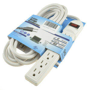 Surge Strip 6 Outlet 12' Cord