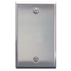 1 gang blank stainless steel plate