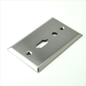 stainless steel plate with vga and 3.5mm cut outs