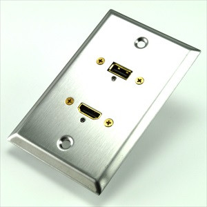 stainless steel plate with hdmi and usb