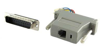 modular adapter db25 male to rj12