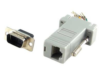 modular adapter db9 male to rj45