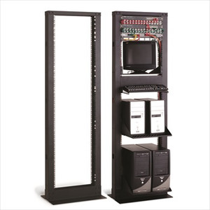 41U Relay Rack with Cable Cove