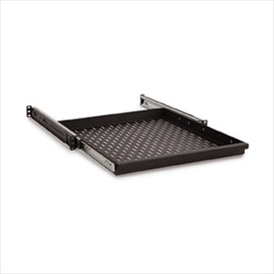 1U Sliding Vented Rack Mount Shelf