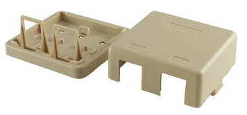 2 Port Ivory Surface Mount Box