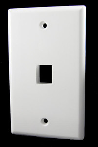 1 Port White Wall Plate