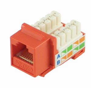 Orange Cat5e Keystone Jack