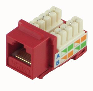 Red Cat5e Keystone Jack
