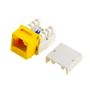 Yellow Cat5e Keystone Jack
