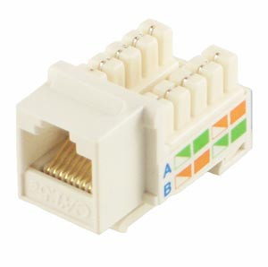 White Cat5e Keystone Jack