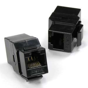 Black Cat5e Coupler Keystone Jacks