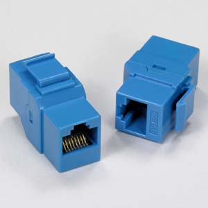 Blue Cat5e Coupler Keystone Jack