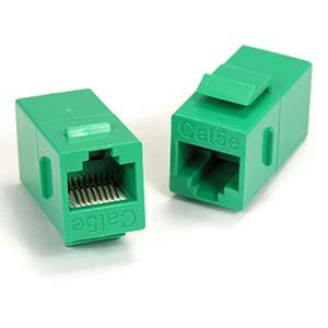 Green Cat5e Keystone Coupler