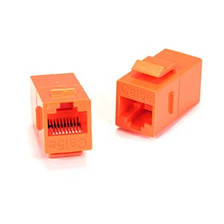Orange Cat5e Keystone Coupler