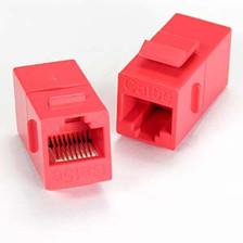 Red Cat5e Keystone Coupler