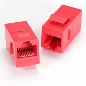Red Cat5e Keystone Coupler