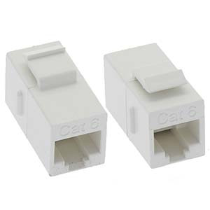 White Cat5e Keystone Coupler
