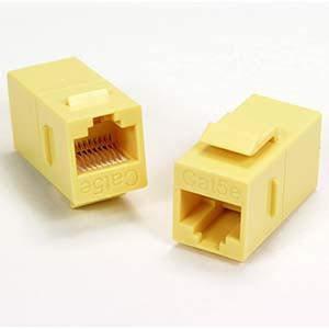 Yellow Cat5e Keystone Coupler