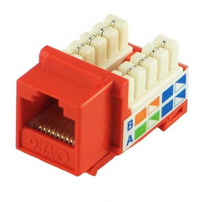 Orange Cat6 Keystone Jack
