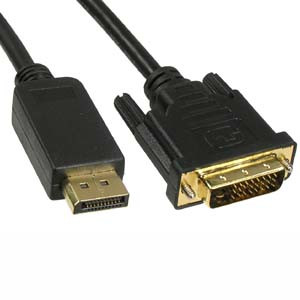 3' DisplayPort to DVI Cable