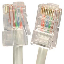 1' Gray Cat5e Patch Cable