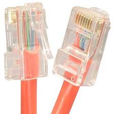 1' Orange Cat5e Patch Cable