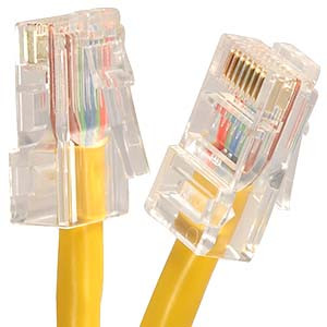 1' Yellow Cat5e Patch Cable