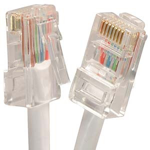 15' White Cat5e Patch Cable