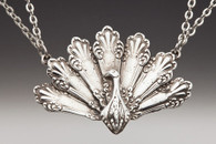 Silver Spoon Peacock Necklace