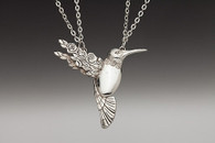 Silver Spoon Hummingbird Necklace