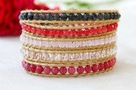 5 Wrap Bracelet - Dahlia