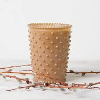 Sea Salt Caramel Hobnail Candle