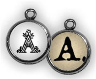 """Small Initial Bubble Charm Letter """"A"""""""