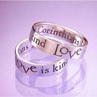Love is Patient Love is Kind Ring in 14k Gold