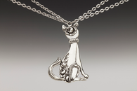 Silver Spoon Duchess Cat Necklace