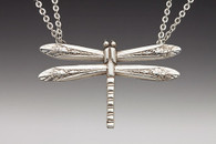 Silver Spoon Dragonfly Necklace