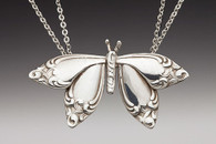 Silver Spoon Butterfly Necklace