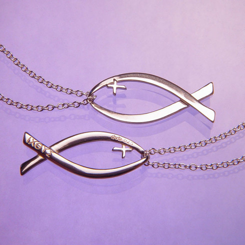 Ichthys christian fish necklace the crown jewel ichthys christian fish necklace image 1 aloadofball Images
