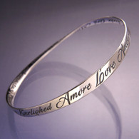 Love in 28 Languages Mobius Bracelet