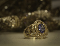 14K Gold Tanzanite Diamond Ring