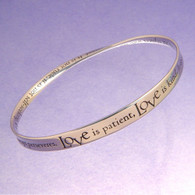 1 Corinthians Love is Patient Mobius Bracelet