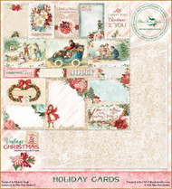 Blue Fern Vintage 2 Christmas Paper Holiday Cards